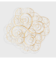 Floral pattern from curls Gold ornament vector image vector image
