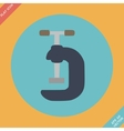 G Clamp Icon - Flat vector image