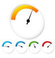 gauge dial template vector image vector image