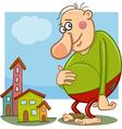 giant fantasy character cartoon vector image
