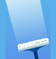 glass scraper for washing window window cleaning vector image