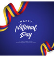 happy columbia national day template design vector image