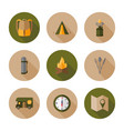 hiking flat design style vector image