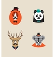 Hipster Animals set of icons Lion panda vector image