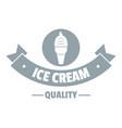 ice cream logo simple gray style vector image