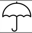 insurance protection rain umbrella weather icon vector image vector image