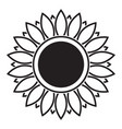 line icon sunflower vector image vector image