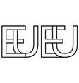 logo european union eu capital vector image vector image