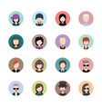 male avatar collection in circles vector image