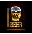 Neon sign Beer bar vector image vector image