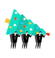 new years corporate party businessman holding vector image vector image