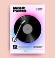 night dj music party poster or flyer design vector image vector image