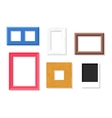 Photo frame set vector image