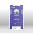 purple cash page online banking ui ux gui vector image vector image