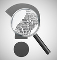 question mark review vector image vector image