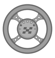 Racing rudder icon black monochrome style vector image vector image