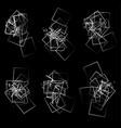 random scattered angular elements shapes vector image
