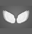 realistic detailed 3d white blank wings template vector image vector image