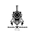 retro trail logo black silhouette locomotive vector image vector image