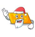 santa parallelogram mascot cartoon style vector image vector image