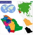 Saudi Arabia map vector image