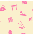 Seamless background with Japanese symbols vector image vector image