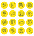 set of 16 project management icons includes money vector image vector image
