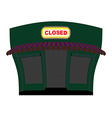 Shop is closed Glow plaque on facade of store Shop vector image vector image