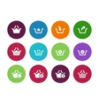 Shopping Basket circle icons on white background vector image vector image
