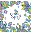 Spring Frame with Ethnic Ornaments vector image