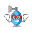 super hero ambu bag character cartoon vector image