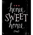 Sweet home hand lettering vector image vector image