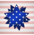 The abstract star with american flag vector image