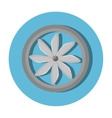 turbine air isolated icon vector image vector image
