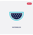 two color watermelon icon from fruits concept vector image
