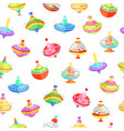 whirligig seamless pattern vector image vector image
