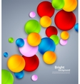 Abstract background with colorful bubbles vector image vector image