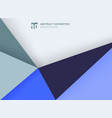 abstract template geometric triangles blue color vector image