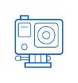 Action Camera Line Icon vector image