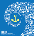 Anchor sign icon Nice set of beautiful icons vector image vector image