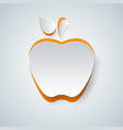 apple icon on the grey background vector image vector image
