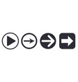 arrows simple square and round icons vector image vector image