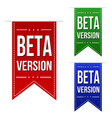 beta version banner design set vector image vector image
