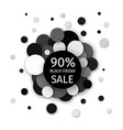 black friday sale 90 percent discount banner vector image vector image