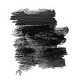 black hand drawn ink stain vector image vector image
