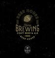 brewing logo pub emblem hop cone craft beer vector image
