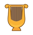 cartoon harp lyre music classic vector image vector image