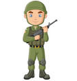 Cartoon soldier with a shotgun