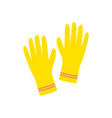 cleaning gloves on white background rubber vector image
