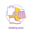 clothing store concept icon vector image